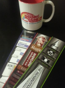 RR mug and bookmarks