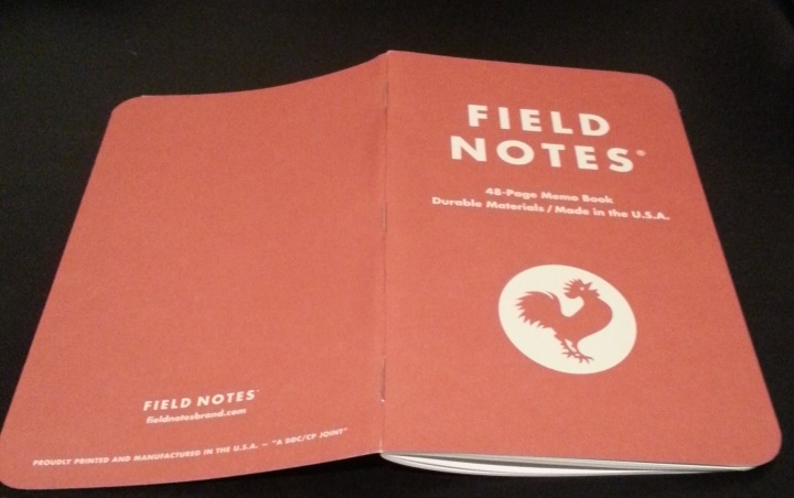 Front and back covers of the Field Notes ToB memo book.