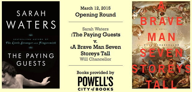 'The Paying Guests' vs 'A Brave Man Seven Storeys Tall' cover art