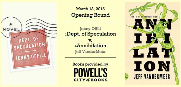 'Dept. of Speculation' vs. 'Annihilation' cover art