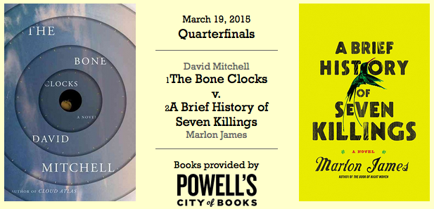 'The Bone Clocks' vs 'A Brief History of Seven Killings' cover art