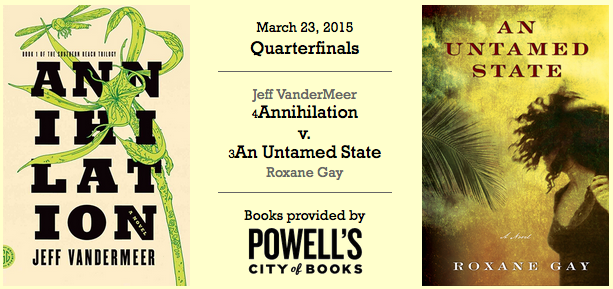 'Annihilation' vs. 'An Untamed State' cover art