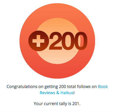 Wordpress 200 followers graphic